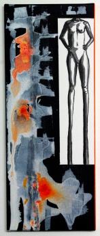 Peacocking, Acrylic on canvas, 20x50cm