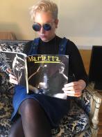 Lala Drona interview in Marietta Magazine. Erica Schreiner Marietta Magazine with Lala Drona painter performance artist.