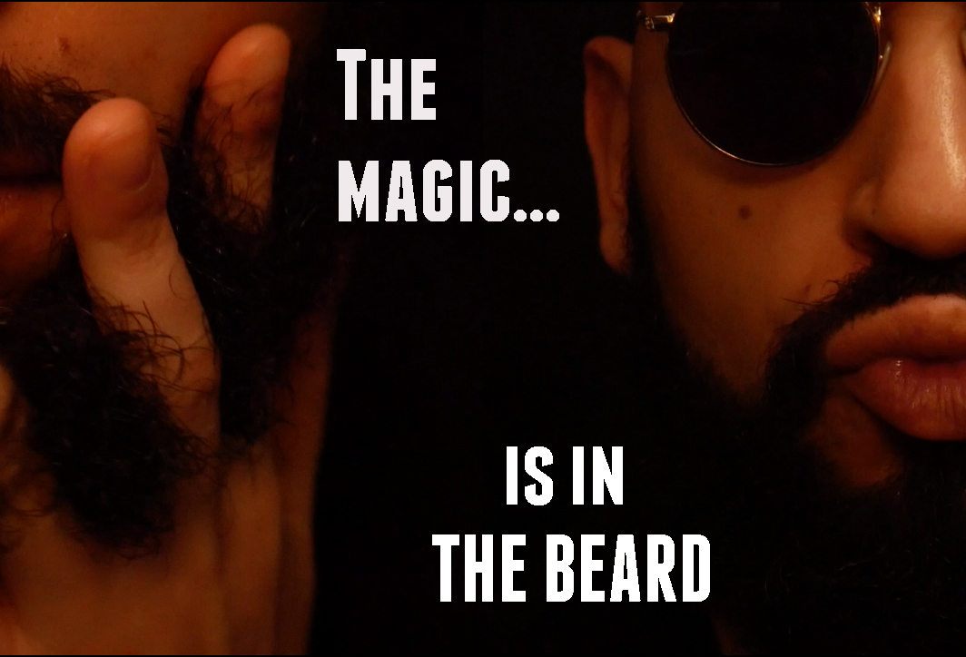 "Internet beard meme of Drone No.1 ""The magic is in the beard"""